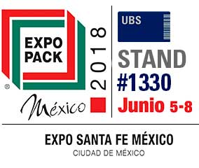 United Barcode Systems ist offizieller aussteller des Expo Pack Mexiko 2018 (Santa Fe. Mexiko-stadt)